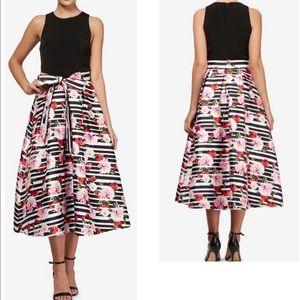 NWOT SLNY Fit & Flare Midi Dress